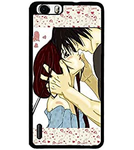 ColourCraft Romantic Couple Design Back Case Cover for HUAWEI HONOR 6