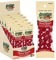 Grab & Run Cherry Sours Candy 2 oz. / 12ct., Gummy Snack