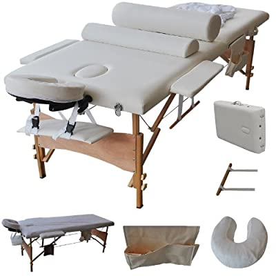"Goplus 84""l Massage Table Portable Facial SPA Bed W/sheet+cradle Cover+2 Bolster+hanger"