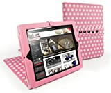 Picture Of Tuff-Luv Multi-View Stasis Polka-Hot Faux Leather Case for iPad 2, Hot Pink