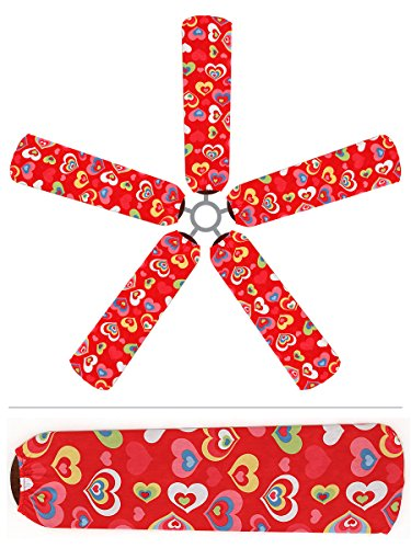 Ceiling Fan Blade Covers, Hearts front-224763