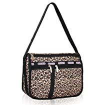 Violett-Shoulder and Cross Body Bag (leopard)