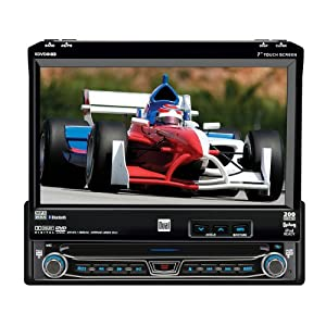 Dual XDVD8183N DVD Receiver with 7-Inch Touch Screen LCD with Bluetooth and iPod Control