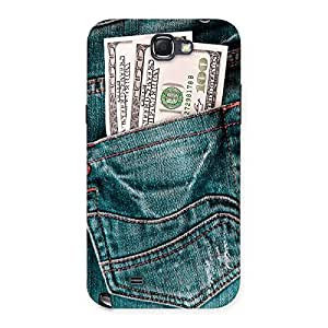 Gorgeous Pocket Full Jeans Multicolor Back Case Cover for Galaxy Note 2