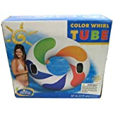 Intex Inflatable Color Whirl Floating Tube Raft w/ Handles (Set of 2) | 58202EP