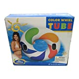 Search : Intex Inflatable Color Whirl Floating Tube Raft w/ Handles (Set of 2) 47in 58202EP