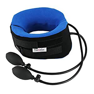 TracCollar - By BODYSPORT - Inflatable Cervical Neck Traction Collar - Portable Cervical Traction Device - Relieves Pressure For Neck Pain Relief - Medium/Large
