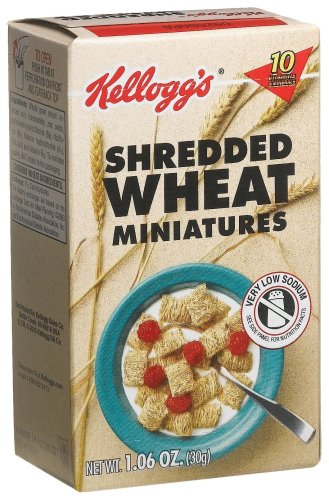Kellogg's Shredded Wheat Miniatures (Unfrosted), 1.2-Ounce Single Serve Packs (Pack of 70)