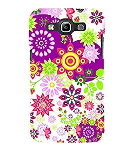Floral Pattern Cute Fashion 3D Hard Polycarbonate Designer Back Case Cover for Samsung Galaxy Quattro Duos :: Samsung Galaxy Grand Quattro :: Samsung Galaxy Win Duos I8552