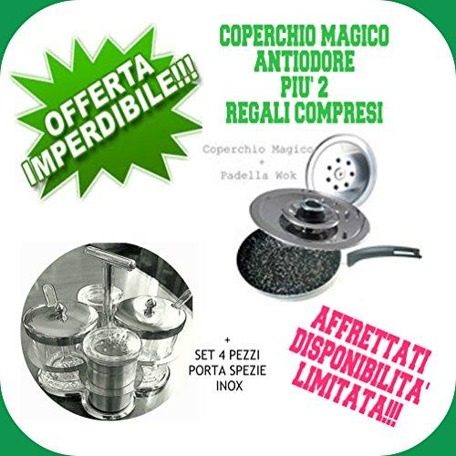 COPERCHIO MAGICO DN28 + WOK + SET PORTA SPEZIE