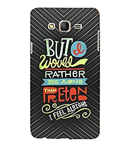 PRINTVISA Quotes Life Case Cover for SAMSUNG GALAXY ON 5 PRO