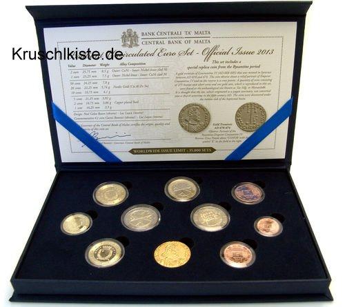 """'Rotta monete set di Malta 2011incl. della moneta da 2euro """"Storia costituzionale e Replika una antica moneta"""