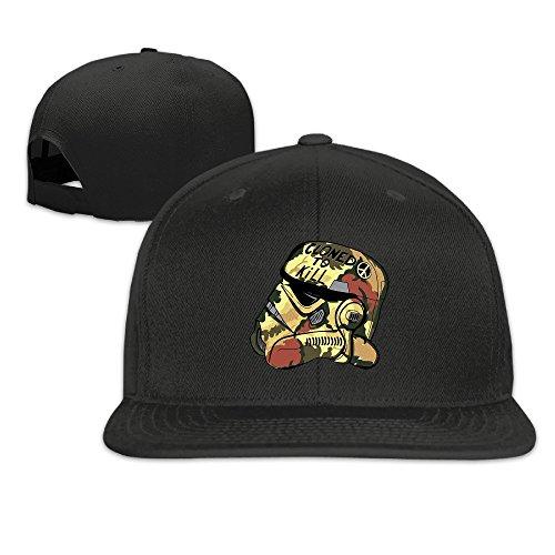 NUBIA Cloned To Kill Portrait Sunbonnet Sun Protection Cap Snapback Flat Bill Hat Black