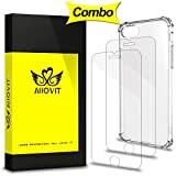 iPhone 7 Plus Screen Protector & Case Combo, Allovit 2-Pack Tempered Glass Screen Protector and Crystal Clear Case,Dual Layer Protection Cover for iPhone 7 Plus 5.5