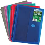 C-Line Biodegradable Acid-Free Poly Binder Pocket with 1 Inch Gusset, Side Loading, 1 File Folder, Color May Vary (33730)