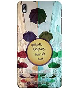 PrintVisa Plastic Multicolor Back Cover For HTC Desire 816 G