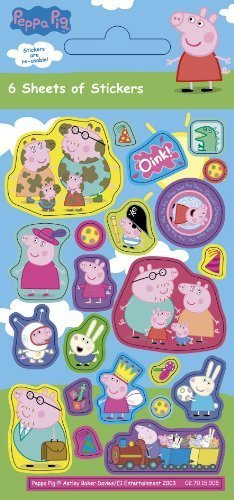 Peppa Pig Stickers (6 sheets)