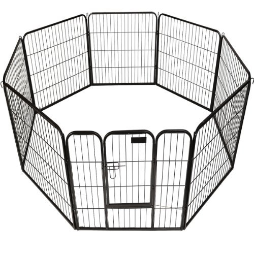 "New 40"" X 31"" 8 Panel Heavy Duty Pet Playpen Dog Exercise Pen Cat Fence front-594701"