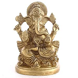 Mela Brass Handcrafted Lord Ganesh Religious Idol