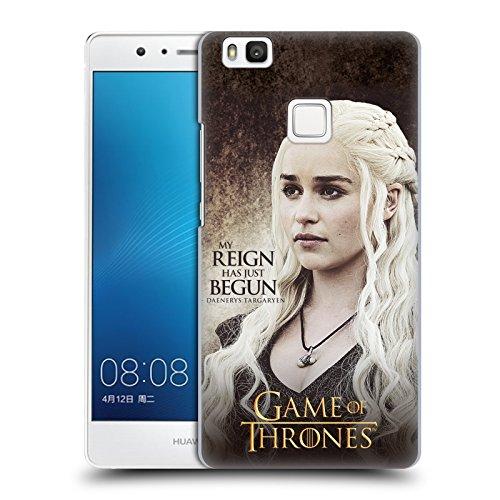 Ufficiale HBO Game Of Thrones Daenerys Targaryen Citazioni Dei Personaggi Cover Retro Rigida per Huawei P9 Lite / G9 Lite