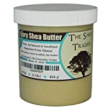 Ivory Shea Butter (16 Oz. / 1 Lb) By The Shea Trader® - Premium, Grade A, Raw, Unrefined, Pure, & Non-GMO - Make Your Own Lotion, Cream, Soap Base and Soap - Freshly Imported From Ghana -Packaged in a Clear, Cosmetic-grade Jar
