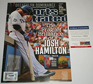 Josh Hamilton Signed Autograph Sports Illustrated *PSA COATexas Rangers MVP Los...