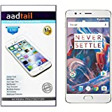 Aadtail OnePlus 3 / One Plus Three / One Plus 3 Tempered Glass (Transparent)
