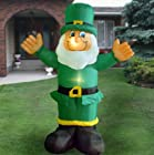 6 FEET INFLATABLE LIGHTED LEPRECHAUN St. Patrick's Day Yard Decoration