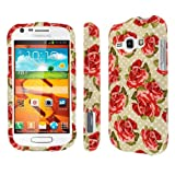 MPERO SNAPZ Series Rubberized Case for Samsung Galaxy Prevail 2 / Galaxy Ring - Vintage Red Roses