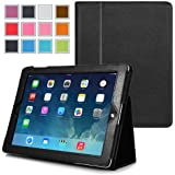 iPad Air Case , Maxboost iPad Air 2 Case Protective PU Leather Flip Cover Case with Auto Wake and Sleep Function Smart Case - Premium Ultra Slim Fit [Book Foilo Style] Stand Case builds with Multi-Angle Stand, Elastic Stylus Holder, and Handing Strap For Apple iPad Air / iPad Air 2 Only