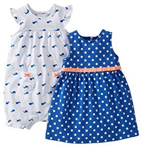 Carters Baby Girl Tank Dress - 3 Piece Set w/Diaper Cover by Carters