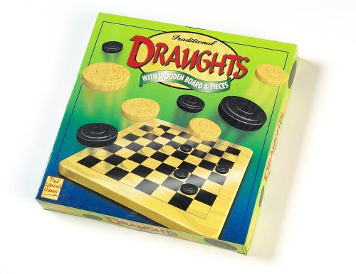 Traditional Draughts with Wooden Board & Pieces