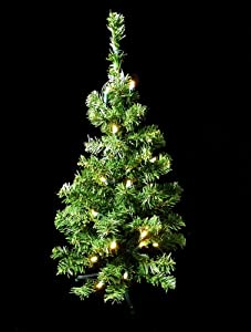 2' Pre-Lit LED Lighted Artificial Christmas Tree - Warm Clear White Lights