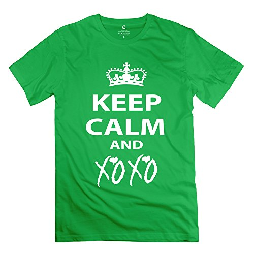 Hanlu Men'S Keep Calm Xoxo T-Shirt M
