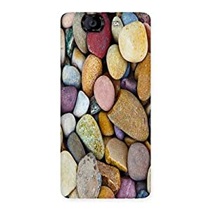 Unicovers Colorful Stones Back Case Cover for Canvas Knight A350