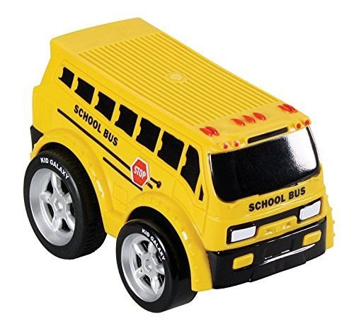 Kid Galaxy Soft and Squeezable Pull Back School Bus - 1
