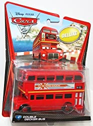 Disney / Pixar CARS 2 Movie 155 Die Cast Collectible Car Oversized Vehicle #4 Double Decker Bus
