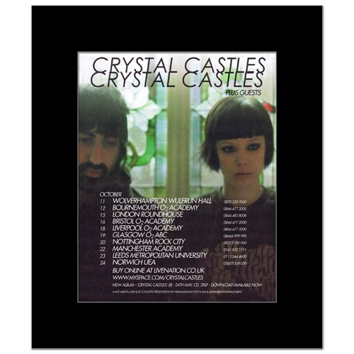 CRYSTAL CASTLES - UK Tour 2010 Matted Mini Poster - 30x24.2cm (Crystal Castles Poster compare prices)