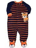 Little Me Baby-Boys Newborn Tiger Blanket Sleeper, Navy Stripe, 3 Months