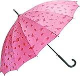 サントス 傘 55cm 雨に濡れると模様が浮き出る 16本骨撥水和傘 わにゃんこ ピンク JK-46-03