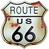 Route 66 Schild verwitterten Blechschild (shot at) ga
