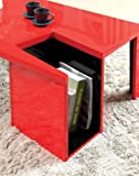 Furniture of America LeBlanc 2-Tone Coffee Table with Magazine Storage, Red and Black