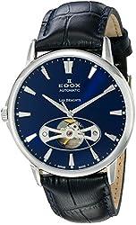 Edox Men's 85021 3 BUIN Les Bemonts Analog Display Swiss Automatic Blue Watch