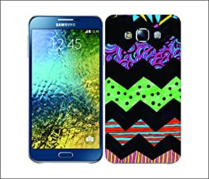 Galaxy Printed 1776 Coloured Doodle chevron Hard Cover for Samsung ACE 3 (7272)