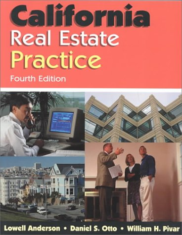 California Real Estate Practice, Anderson, Lowell; Otto, Daniel S.; Pivar, William H.