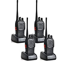 Tenq® Baofeng Bf-888s Uhf 400-470mhz 16ch Ctcss/dcs with Earpiece Handheld Amateur Radio Walkie Talkie Two Way Radio Long Range Black 4 Pack