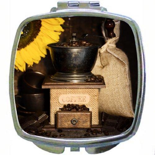 Rikki Knighttm Still Life With Antique Coffee Grinder And Sunflower Design Compact Mirror