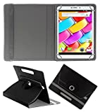 ACM ROTATING 360° LEATHER FLIP CASE FOR AMBRANE AQ880 TABLET STAND COVER HOLDER BLACK
