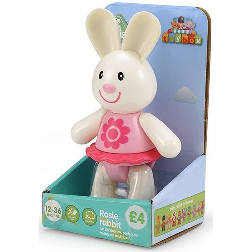 Early Learning Centre Toybox Rosie Rabbit Baby Toy - Auditory and Tactile Interaction For Children -Engages and Employs Creativity - For On-The-Go or At-Home Play - Ages 12 Months and Up - 1