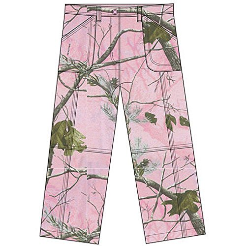 Real Tree Girls' Cargo Pink Camo Pants Size S 6/6X